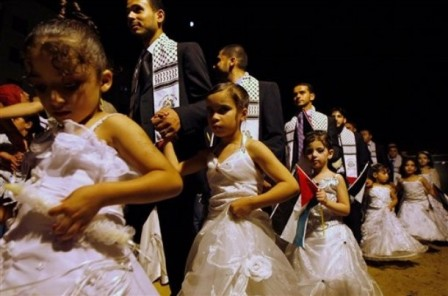 Hamas sponsored mass pedophile wedding